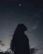 woman under the stars